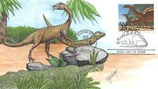 2425 25c Brontosaurus Frans Geerlings 'Oak' hand painted cachet [409423]