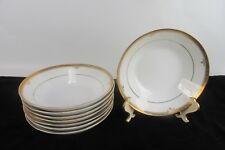 Contemporary Noritake Buckingham Gold Set of 8 Fruit Dessert Bowls Gold Gilding