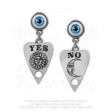 Ouija Planchette talking board Earrings Yes No Sun Moon By Alchemy Gothic