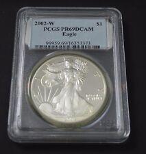 2002-W Proof Silver American Eagle Coin - PR-69 DCAM PCGS