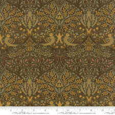 MODA Fabric ~ WILLIAM MORRIS 2017 ~ V & A Archives (7301 13) Sepia - by 1/2 yd