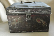 Antique 19th century toleware document box