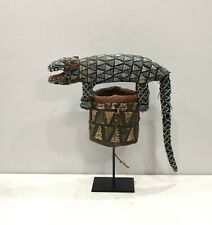 African Bamileke Lizard Beaded Hat