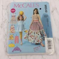 Easy McCalls Pattern 6549 Bolero Jacket Top Dress Leggings Sz 3 4 5 6 Uncut Girl