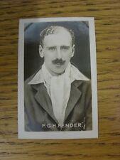 22/07/1922 tarjeta de comercio: nº 26: campeones deportivos campeón-P G H Fender (Surrey