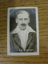 22/07/1922 Trade Card: Champion No 26: Sporting Champions - P G H Fender (Surrey