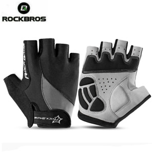 ROCKBROS Cycling Gloves Mountain Bike Half Finger Breathable Road Bicycle Gloves
