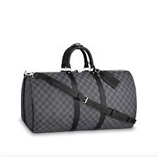 b601a2934d NIB Auth Louis Vuitton KEEPALL BANDOULIERE 55 Graphite Damier Duffle Bag