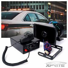 Xprite 100W Loud Speaker PA Horn Siren System Mic Kit Police Car Fire Truck