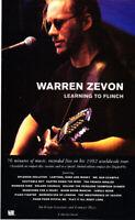 "1993 Warren Zevon photo ""Learning to Flinch"" Album Release vintage print ad"