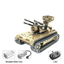 2.4G RADIOCOMANDO RC Costruisci il tuo modello Master Brick Esercito BATTLE TANK KIT!