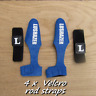 4 velcro nylon carp pike fishing rod strap sea coarse game loop fastener holder