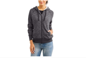 Faded glory Women's Sherpa Hoodie Size M color black