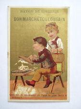 Chromo du Bon Marché Toulousain (Devinette) Cardage de la Laine