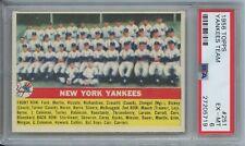 1956 Topps Baseball New York Yankees Team Card EX-MT PSA 6