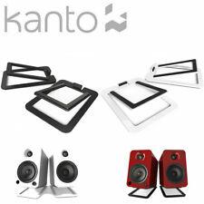KANTO S2 Premium Desktop Speaker Stands Gloss Black White Desk Top PAIR Tilt YU2