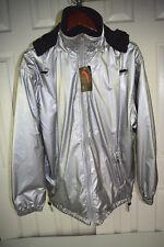 Deadstock NWT vtg 80's TRON Jacket Sz Medium Reversable Silver Black Fleece