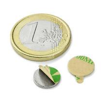 Super Magnete Disco in Neodimio AUTOADESIVO 10 x 1 mm. 500 gr. COLLA 3M (467)