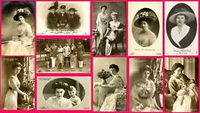 GERMAN EMPIRE & PRUSSIA ROYALTY - 11 ORIGINAL ca 1900's REAL PHOTO POSTCARDS