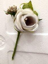 36 PZ Pick Rosa Rosellina ECRU con brillantino decorazione FIORE BOMBONIERA RD0G