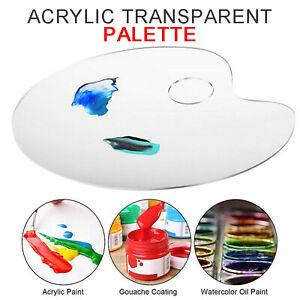 Clear Acrylic Paint Palette Draw Pallet Colour Mixing Artist Children Art Crafts
