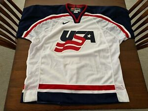Authentic Nike USA Hockey Home Jersey / Vintage / IIHF World Championship / S-52