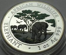 SOMALIA 2012 100 SHILLINGS  ELEPHANT 1 Oz 999 SILBER SILVER  COLORED RARE!!