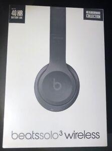 Beats by Dr Dre Solo 3 On-Ear Wireless Headphone [ Asphalt Gray ] NEW