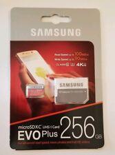 Samsung Evo Plus 256GB MicroSDXC UHS-1 U3 Class 10 Micro SD Memory Card Fast New