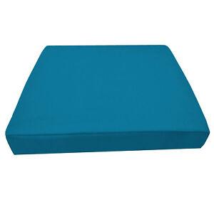 Aw44t Dp. Turqoise Blue High Quality 12oz Thick Cotton 3D Box Seat Cushion Cover