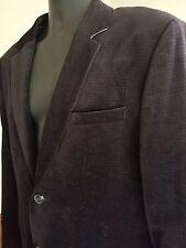 Men's Jack Wills English Velvet Two Button Jacket Coat Blazer XL- Black Stylish