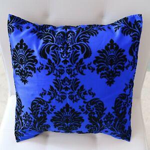 "Taffeta Damask Victorian Print Decorative Throw Pillow 20"" x 20"" Cushion Cover"