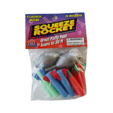Squeeze ROCKET parte Pack palmare 10x Schiuma razzi & 2x LANCIATORE fino a 30FT