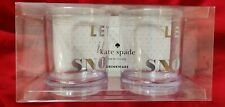 Kate Spade LET IT SNOW  Drinkware Set/2 Clear Acrylic 12oz Tumbler  NEW in Box