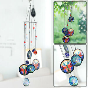 Tree of Life Solar Wind Chimes Crystal Hanging Decoration Home Garden Yard