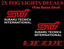 (2x)Subaru Tecnica International STI Fog Lights Cover Vinyl Decals Stickers