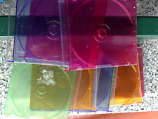 19 cover colorate cd lotto dvd  con usura e rotture come foto slim custodie