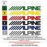 Alpine adesivi vinile pre spaziato moto sponsor sticker auto helmet tuning 4 pz.