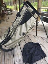 Nike golf stand bag 4 way dividers classic w raincover Slate Gray