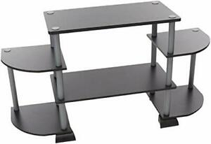"TV Stand Unit Modern Shelf Mount Display Tool Free Easy Set Up - Up to 25"" Inch"