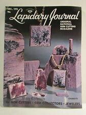 Lapidary Journal Magazine December 1978 Charoite