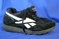 Vintage REEBOK BLACK SUEDE/NYLON Retro Old School TRAINERS SNEAKERS SHOES US-8.5