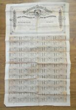 Confederate States of America $1000 Bearer Bond & Coupons 1864 Issue Complete