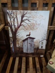 """Morning Commute by Billy Jacobs, Canvas Picture, 12""""x16"""", Rooster Outhouse Farm"""