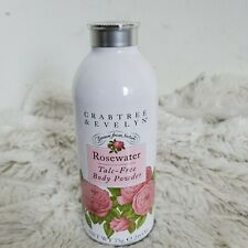 Crabtree & Evelyn Rosewater Talc Free Body Powder 2.6 Oz Discontinued