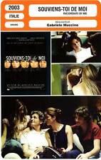 Fiche cinema: remember me Bentivoglio, morante 2003 remember me, my love