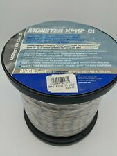 Monster - XPHP Advanced Speaker Cable [100 ft] (Bare Wire) - Clear