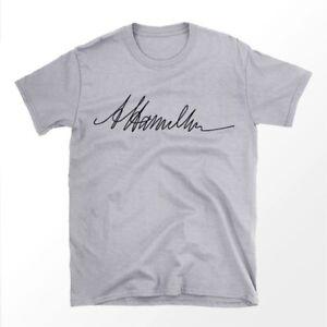 Alexander Hamilton's Signature on Shirt - 100% Cotton - Founding Father Shirt