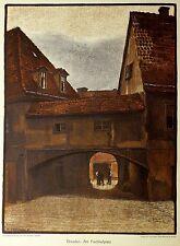 Otto westphal-Dresde le fischhofplatz-farblithografie 1908