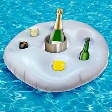 Aufblasbarer Getränkehalter Rettungsring Poolbar Pool Garten Bar Kühler 60cm